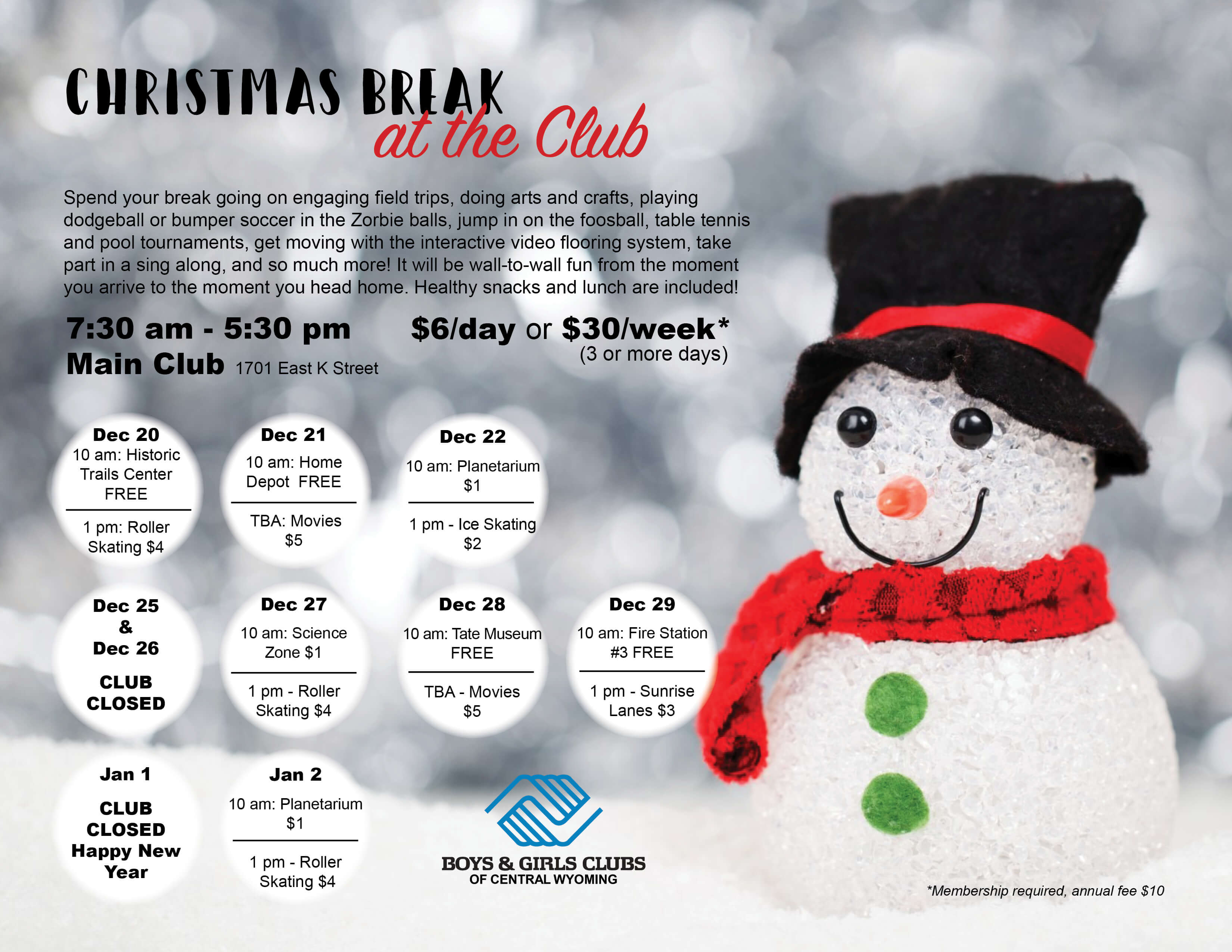 Christmas Break at the Club - Boys & Girls Clubs of Central Wyoming